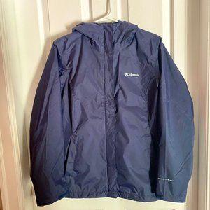**SOLD** Women's Columbia Navy Blue Rain Jacket